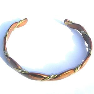 Vintage MiXed MeTal Copper Brass & Silver Cuff